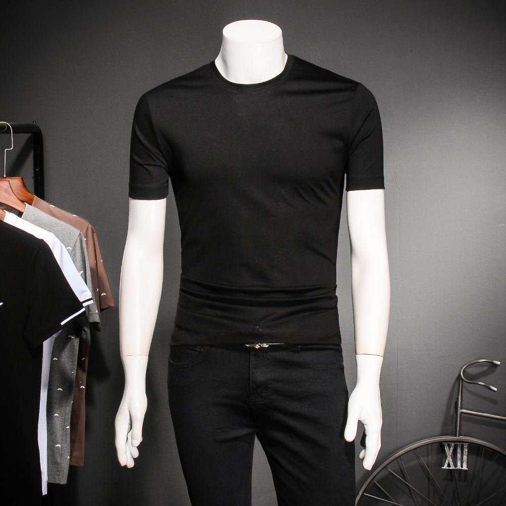 01a649003 2018 Spring And Summer Men'S Short Sleeved T Shirt Korean Tide Silk Cotton Printing  Men'S Half Sleeved Youth Big Yards Shirt The T Shirt T Shirts Designer ...