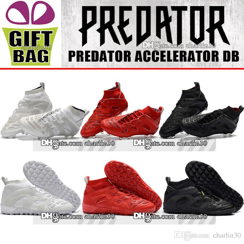 2018 Mens High Top Leather Football Boots Predator Accelerator DB FG ... de88008b28e