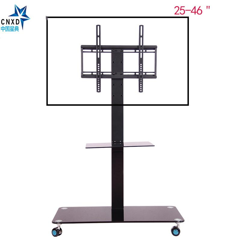 Mobile Tv Display Floor Stand Height Adjustable Mount With Wheels