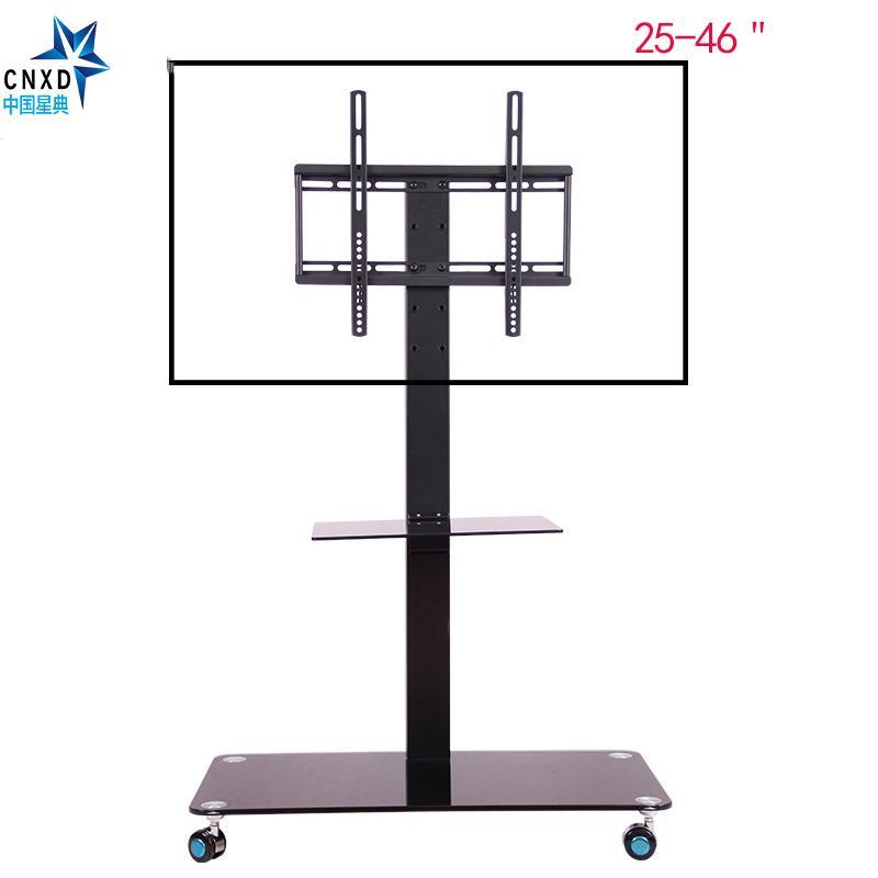 Mobile TV Display Supporto da pavimento Supporto regolabile in altezza con  ruote Supporto DVD per schermo piatto Schermo LCD a LED da 25 a 46