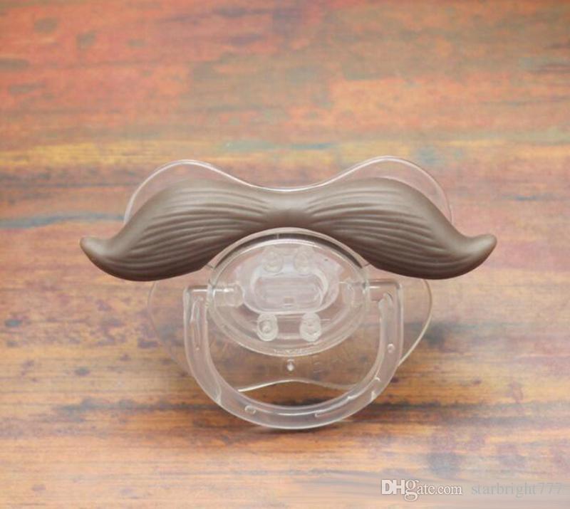 Pacificador del bebé Dientes divertida linda del bigote de la barba bebé chupete de ortodoncia ficticias juguetes de confort infantil pezones gel de sílice bebé Chupete