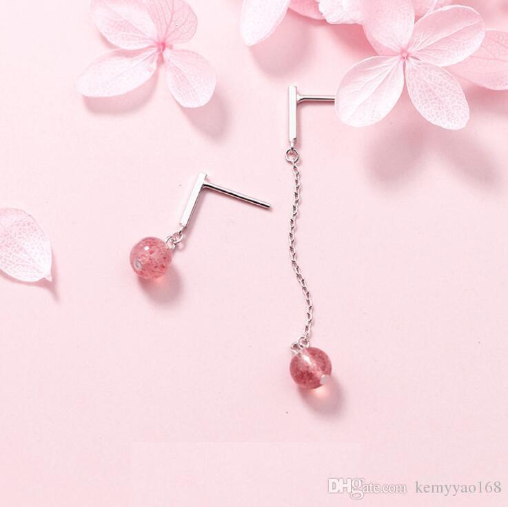 234869a39 Fine Jewelry Asymmetric Earrings 100% Real 925 Sterling Silver Drop ...
