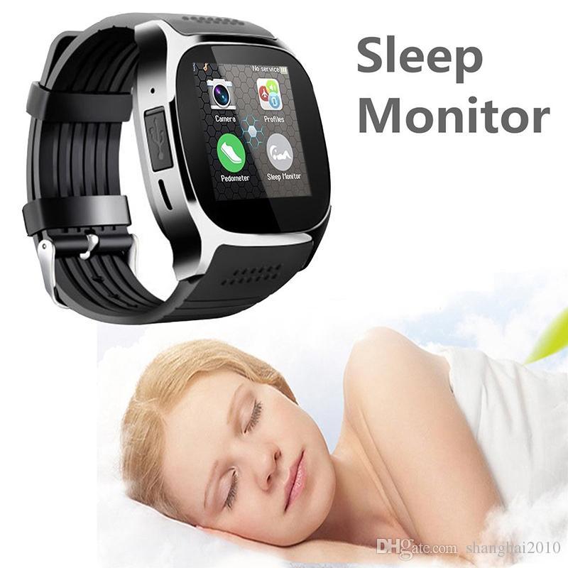 Para Android Nuevo T8 Bluetooth Smart Podómetro Relojes Soporte Tarjeta SIM TF Con Cámara Sync Call Message Hombres Mujeres Reloj Smartwatch