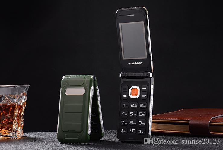 Military Land Rover three anti-flip mobile phones for the elderly, big characters loud standby, old male models business mobile