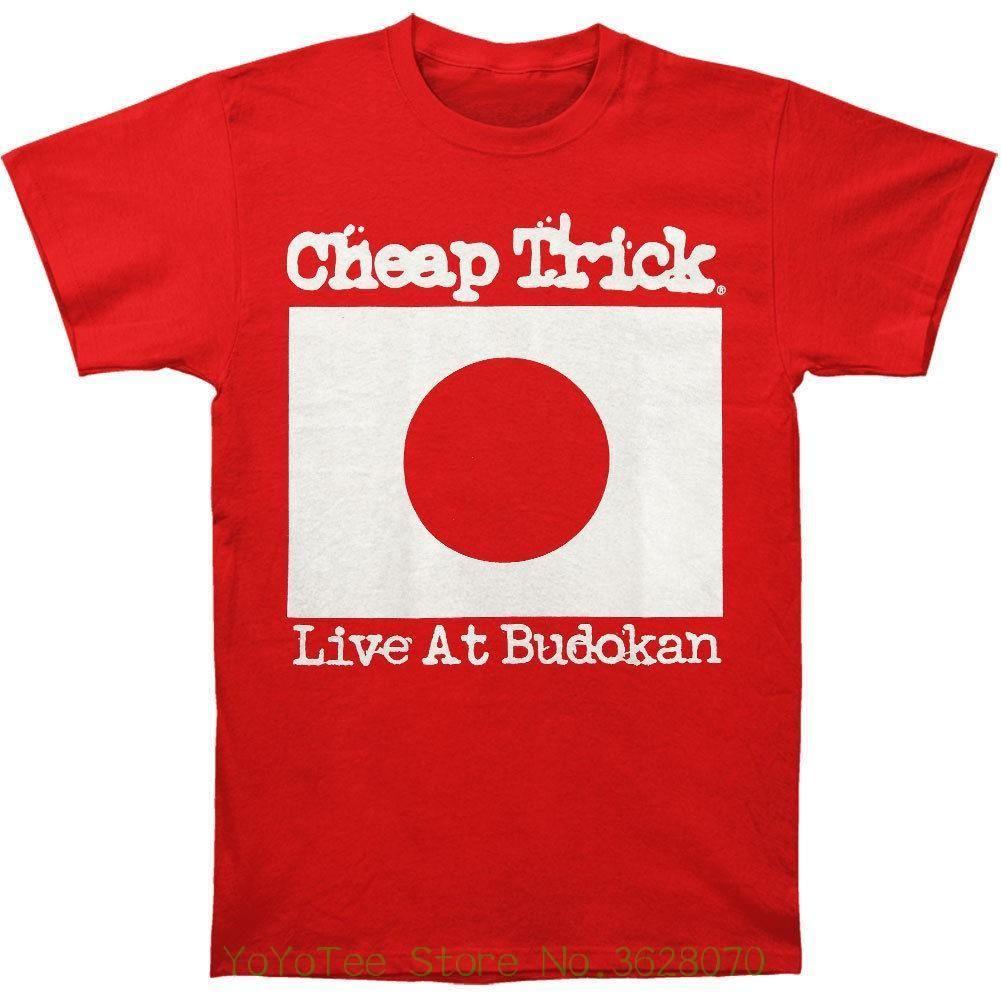 premium selection dda3c c6df9 Gute Qualität Marke Baumwollhemd Sommer Stil Coole Shirts Günstige Trick  Männer '; S leben bei Budokan T-Shirt Medium Red