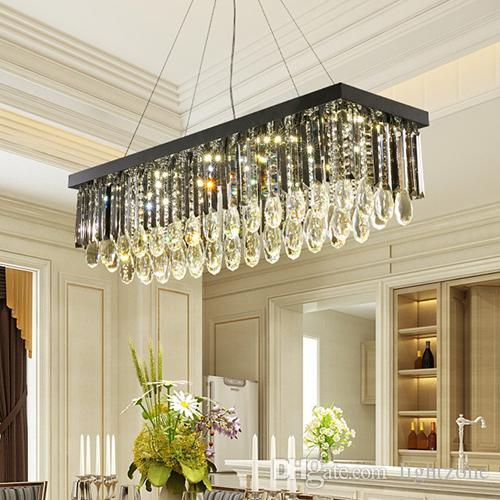 Grosshandel Modernes Design Dimmbare Led Kristall Kronleuchter