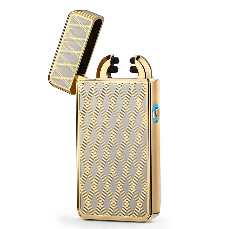 Classic Innovation Double arc Lighter A prueba de viento Electronic USB Recargable Lighter Cigarette Smoking Electric Lighter es
