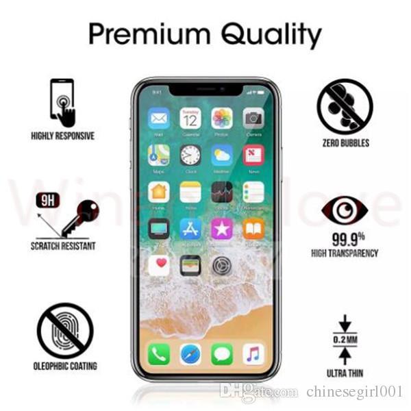 خفف من الزجاج 0.3MM 2.5D 9H لشاشة آي فون XS XR XS ماكس الزجاج المقسى السينمائي للزجاج Iphone7 شفافة شاشة تشديد حامي