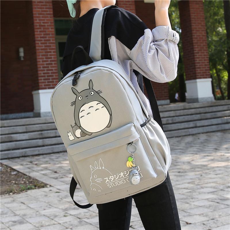 1230d8d8af10 Drop Shipping Totoro Backpack 3D Printing Travel Softback Women Mochila  School Space Backpack Notebook Girls Backpacks 2017 New Y1890302 Water  Backpack Mesh ...