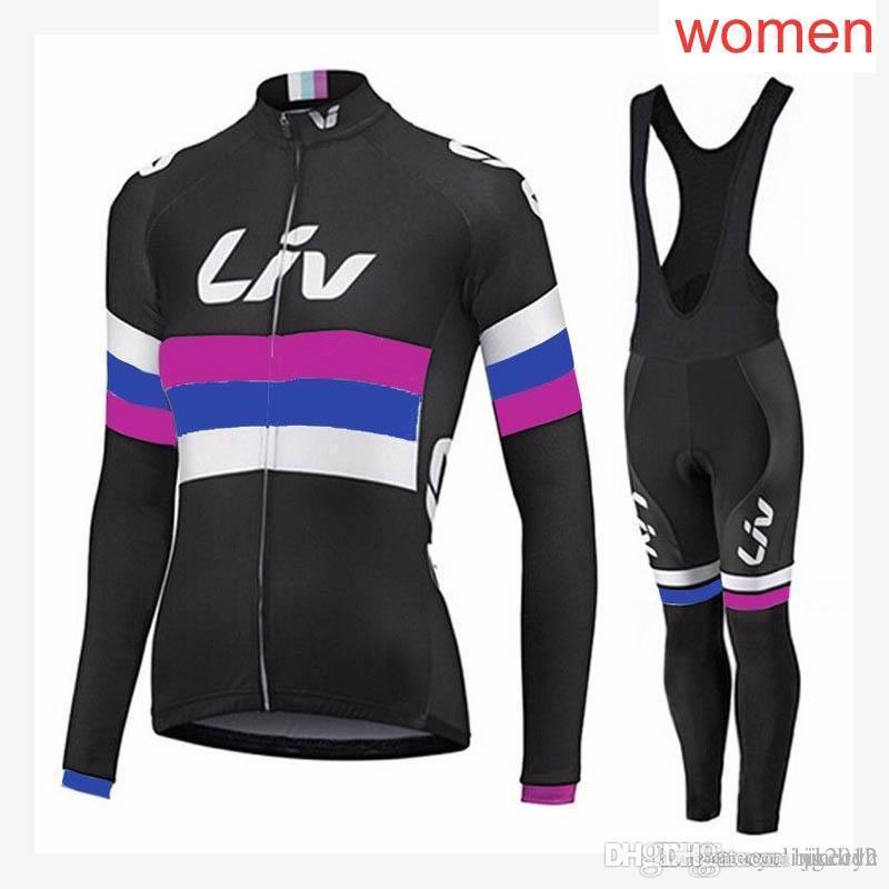 e3c5b1ae1 LIV Team Cycling Long Sleeves Jersey Bib Pants Sets Women Hot Bike Clothing  Quick-Dry Polyester Mtb Bicycle Sportwear NEW C2102 LIV Cycling Clothing Mtb  ...