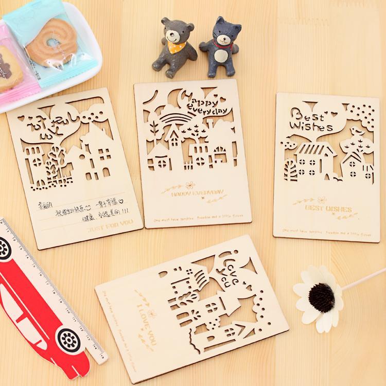 nnrts stationery forest story wooden vintage postcard envelope