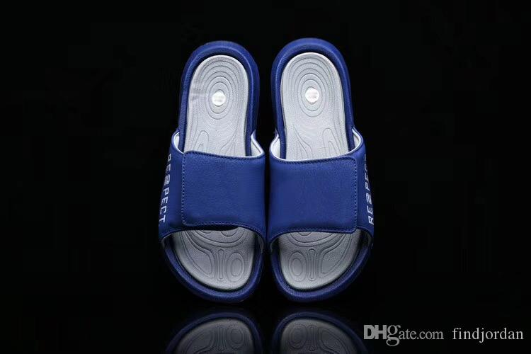 4c59ab444fb6cd 2019 High Quality 6 RE2PECT Slippers Sandals Hydro Slides Blue AH6733 402  Men Basketball Shoes Casual Shoes Outdoor Sneakers Size 7 13 From  Findjordan