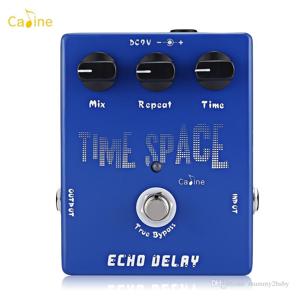 Caline Time Space Echo Delay Electronic Guitar Effects Pedal Space Echo Electric Digital Delay Pedal 600ms Max True Bypass Musical Inst