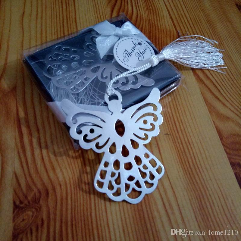 Brand New Of 2018 Metal Bookmark Ribbon Tassel Angel Wedding Baby