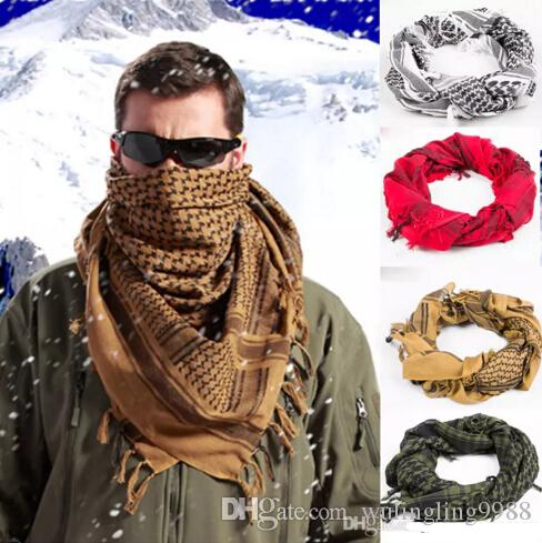 c33953859fe97 Hot Sale 100% Cotton Thick Muslim Hijab Shemagh Tactical Desert Arabic  Scarf Arab Scarves Men Winter Military Windproof Scarf Head Scarves Fur  Scarf From ...