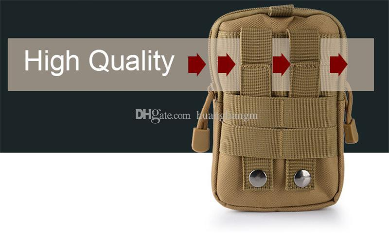 New Wallet Pouch Purse Phone Case Outdoor Tactical Holster Military Molle Hip Waist Belt Bag with Zipper for iPhone/Samsung/LG/SONY