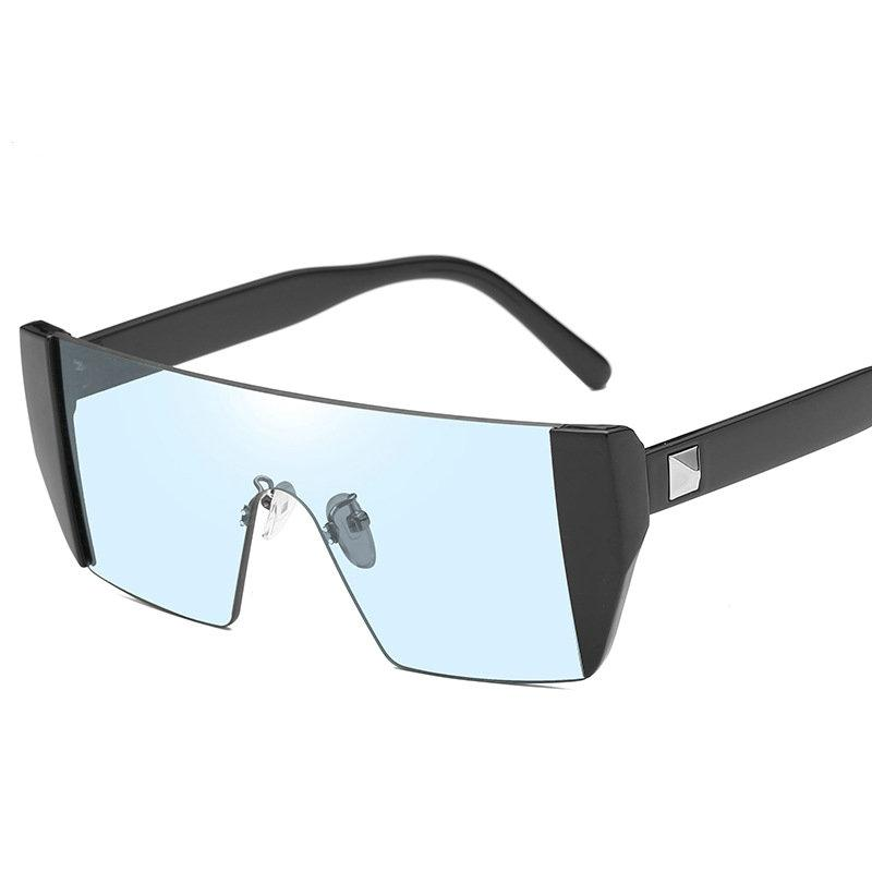 d9fa83ebee3 2018 Vintage Oversized Rimless Square Sunglasses Women Mirror Flat Top Big  Eyewear Brand Designer Clear Lens Sunglasses UV400 NX Polarised Sunglasses  Baby ...