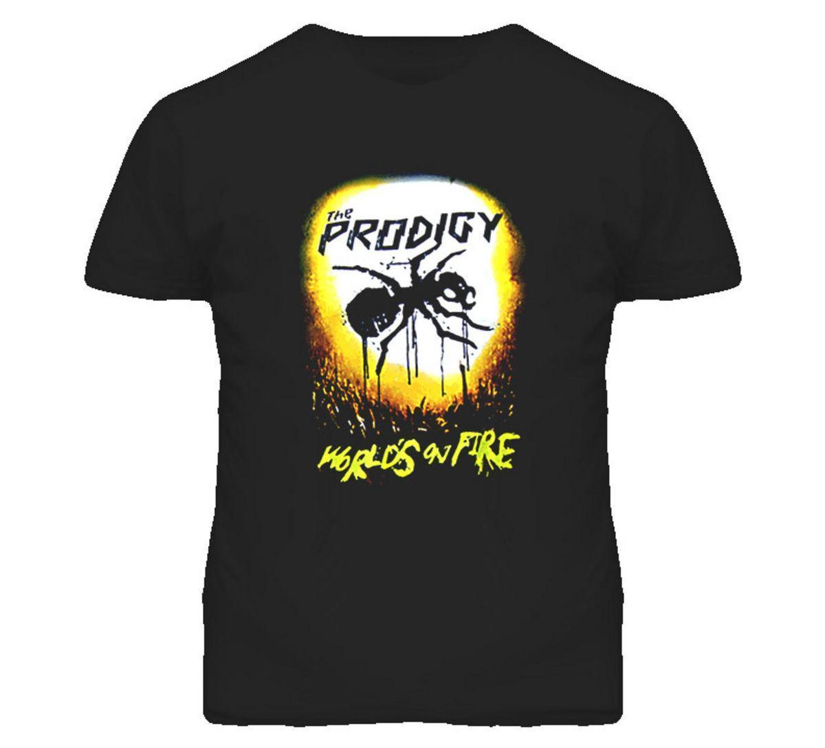 The Prodigy Worlds on Fire T Shirt Short Sleeve T-Shirt Free Shipping 2018  Hot Sale Super Fashion Letter Printing