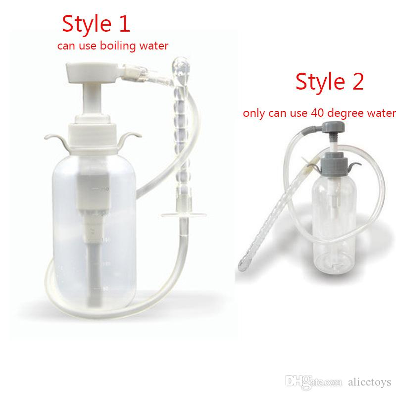 Anal Douche Cleaner Enema Vagina Wash Bottle Tube Anal Sex Toys For Men  Woman Gay Nozzle Pump Enema Bag Adult Sex Toys