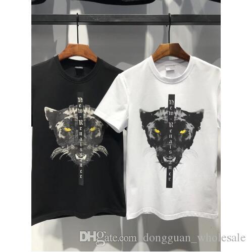 Acquista Marcelo Burlon T Shirt Uomo Donna 1a  1 3D Wolf Animal Stampa MB  Panther Testa T Shirt Hip Hop Style Abbigliamento Camisetas Hombre Tees A   29.24 ... 8035a1d139f7