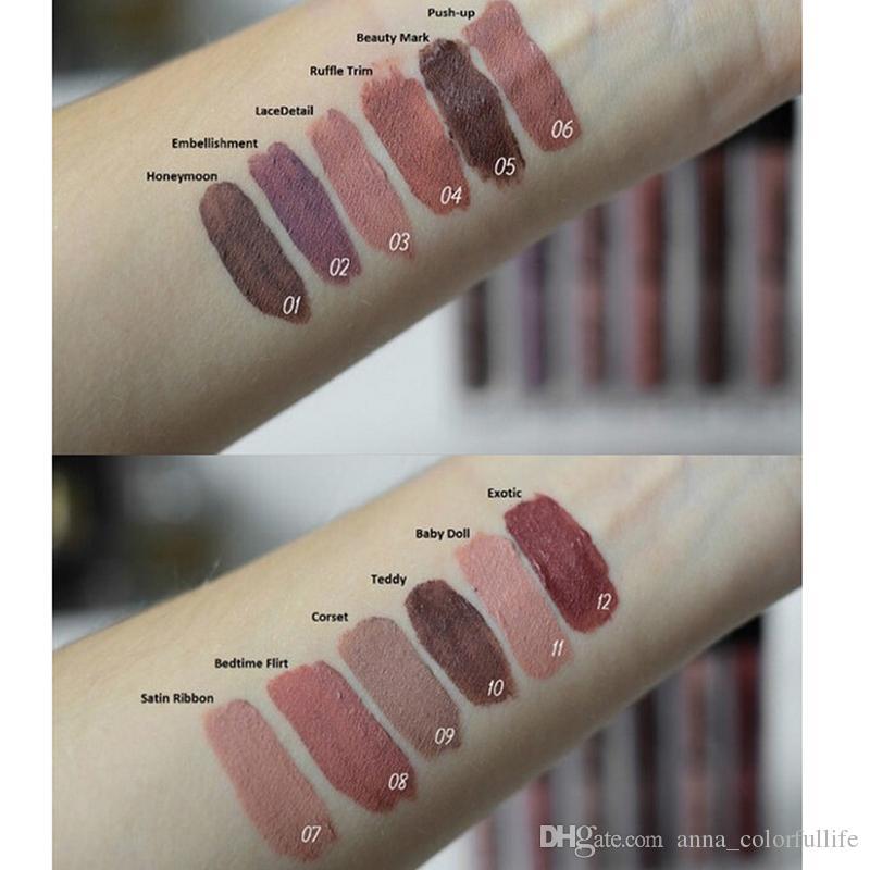 NYX Lip Lingerie Crème À Lèvres Brillant À Lèvres Rouge À Lèvres vintage longue tenue 4ML Maquillage Professionnel 12 couleurs