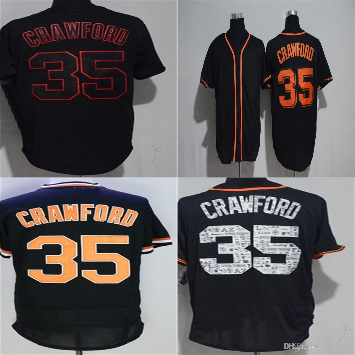 20549980e ... mlb jersey b070b b8507  ireland 2018 factory outlet mens womens kids  todddlers san francisco 35 brandon crawford black flex cool