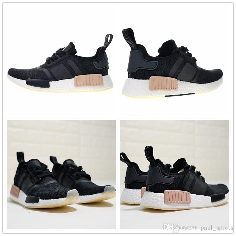 timeless design 6236a 25c04 Compre 2018 Hot Sale R1 Negro Pink Primeknit Triple Blanco Jogging  Zapatillas Para Hombres De Alta Calidad Classic Sports Sneakers Tamaño 36  45 A  70.06 Del ...
