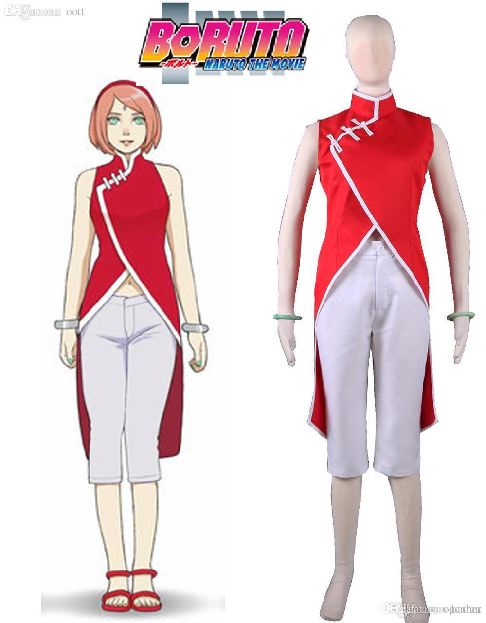 Wholesale Boruto  Naruto The Movie Haruno Sakura Cheongsam Anime Cosplay  Costume Cheap Cosplay Wig Cosplay Sales From Openran e18c586820