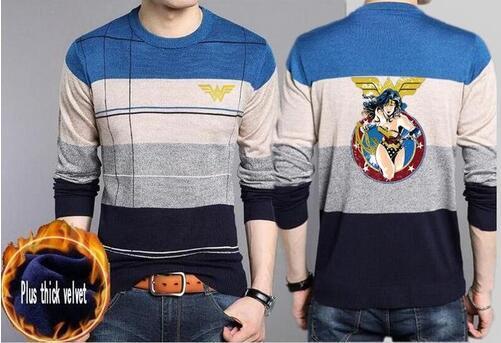 Großhandel Justice League We Baumwolle Dünner Männer Pullover Lässig