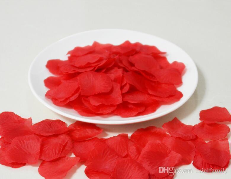 200 Parça Simülasyon Gül Yaprakları Düğün Dekorasyon sevgililer Günü ve Parti için Yaprakları