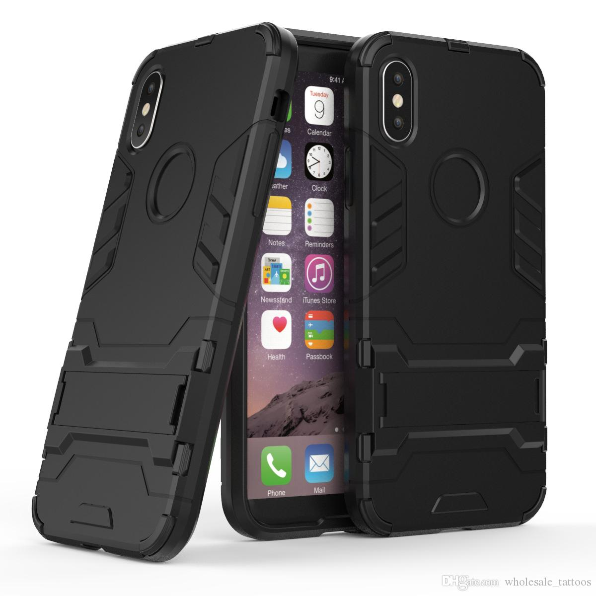 finest selection 8df6d d642d Iron Man Shockproof Armor Case For LG Aristo Stylo 2 V Fortune Phoenix 3  Rebel 2 Risio 2 Soft Silicone Hard PC Dual Cover with Stand Holder