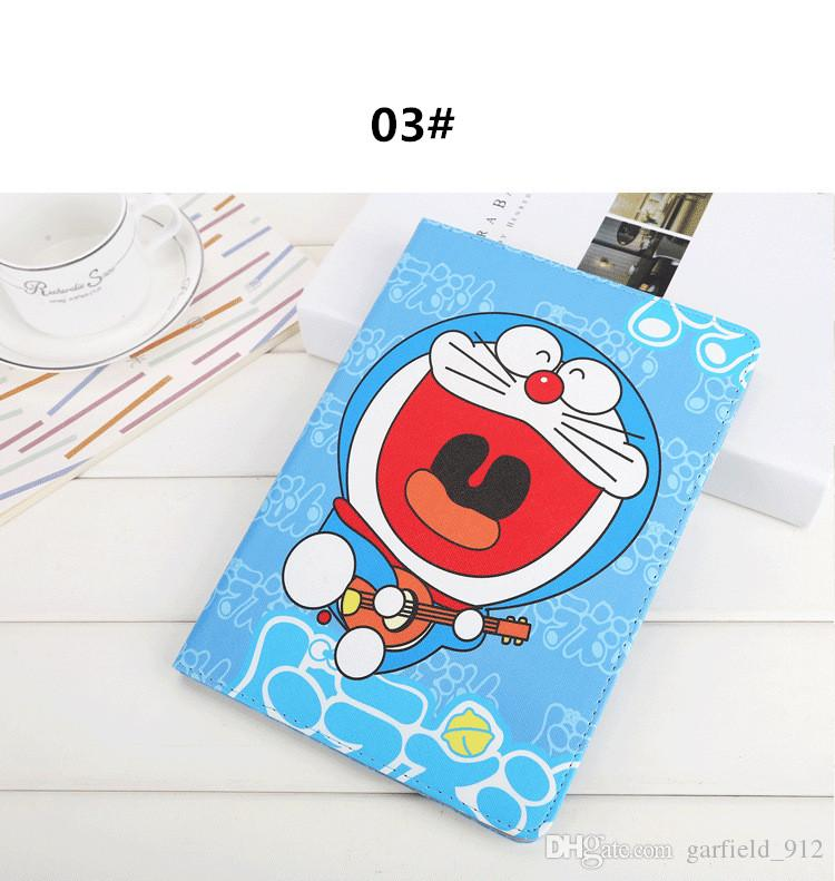 Apple iPad Mini 4 Custodia Cartoon Doraemon Stand Custodia Auto Sleep Wake Up iPad air1 / air2 Pro 9.7 pollici 2017 Custodia Doraemon fumetto