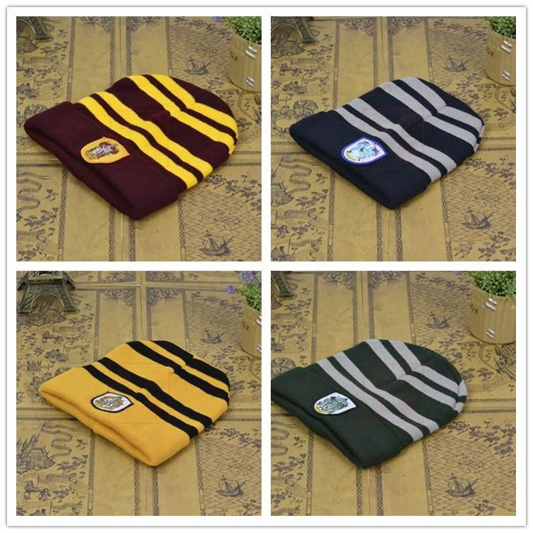 ee4081d443d 2019 Harry Potter Hats Hogwarts Ravenclaw Gryffindor Slytherin Hufflepuff  College Beanie Winter Knit Hat Skull Cosplay Caps For Men Women Sale From  ...