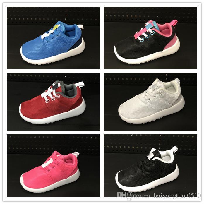 detailed look ff1d7 27cf8 Compre Nike Roshe Run Rosherun Niño Zapatillas Zapatos Niños Calzado  Deportivo Niños Niñas Beluga Negro Rojo Blanco Zapatillas De Deporte De  Cebra ...
