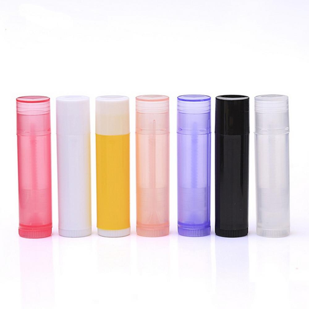 5g Colorful Sturdy Plastic Empty Lipstick Tubes Containers with Lid Caps for Crayon Lipstick Chapstick Homemade Lip Balm