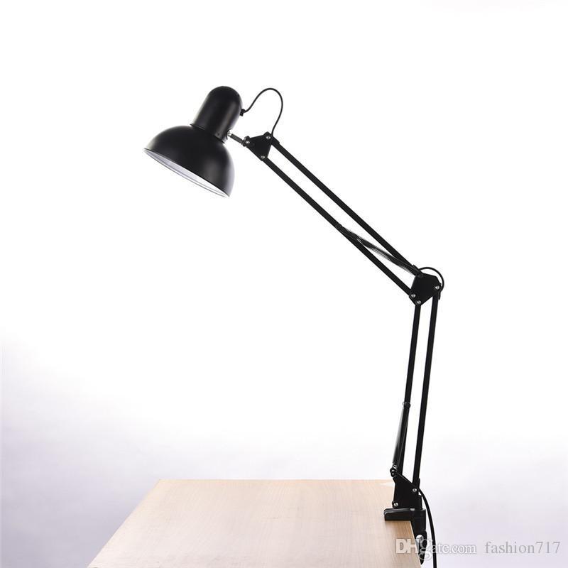 Lampe de table réglable Lampe de chevet Lampe de table de bureau Lampe de bureau noire Lampes de bureau Lumière Libraly Porch Éclairage industriel