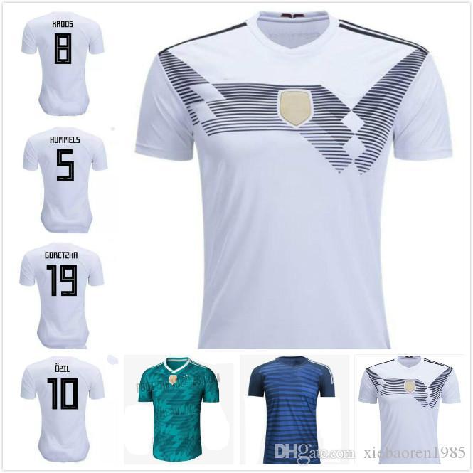 Compre 2018 Alemanha Jérsei De Futebol Copa Do Mundo Kroos Ozil Hummels  Home Branco Werner Draxler Sane Nacional Camisas De Futebol Maillot De Pé  ... 12d0d5a648a66