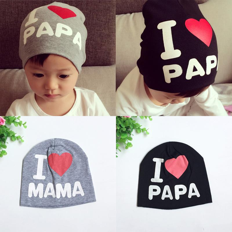 2019 Cute Newborn Baby Summer Hats For Boy Girl Crochet Baby Hat Girl Boy  Caps Toddler I LOVE PAPA MAMA Hat Caps MZ01 From Fkansis 206111efde88