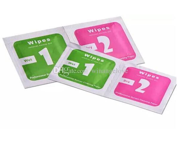 Ferramentas de limpeza Wet Dry 2 em 1 Wipe Dust-Absorber Guia Guia Para Protetor de Tela De Vidro Temperado