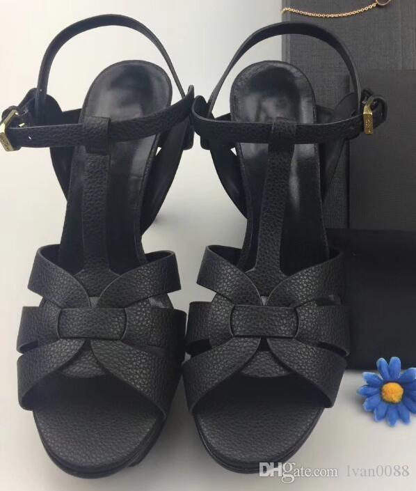 2018 горячий продавать женские толстые каблуки сандалии обувь офис леди повседневная сандалии с толстым дном зеленые короткие каблуки девушки мода черные туфли 9 # T02