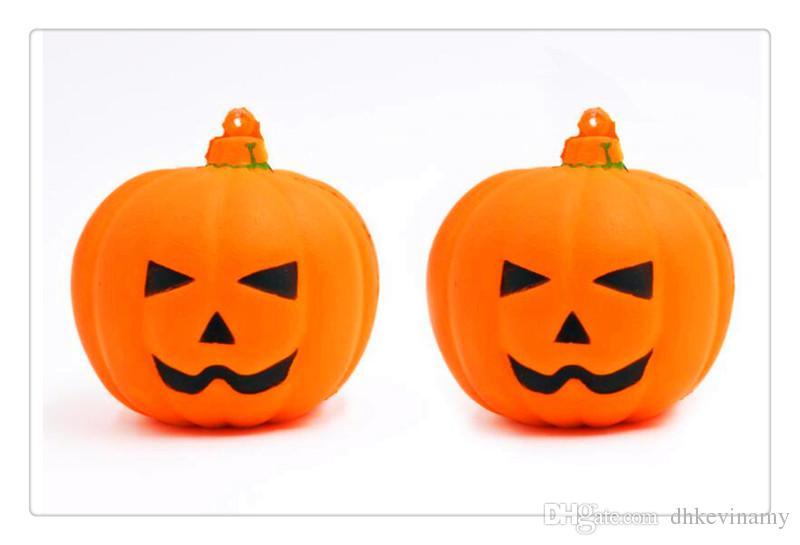 Facce Zucche Di Halloween.Zucca Di Faccia Di Sorriso Di Halloween Squishy Di Ortaggi A Rimbalzo Lento