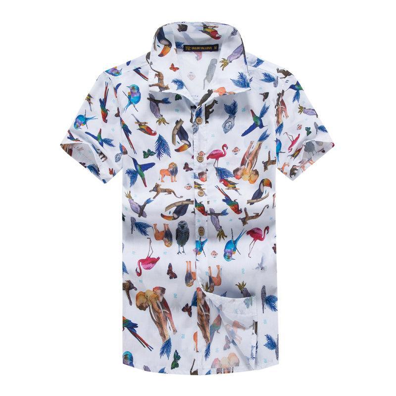 bc4c0f351acb Großhandel 5XL Mens Hawaiihemd Animal Print Sommer Mode Casual Kurzarm  Shirts Männer Hawaii Marke Strand Kleidung Camisa Masculina Von Sogga,   29.64 Auf De.