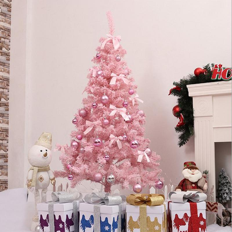 2018 Pink Christmas Tree Artificial Christmas Tree Xmas Party Holiday Ornament Home Decor Office Decorations