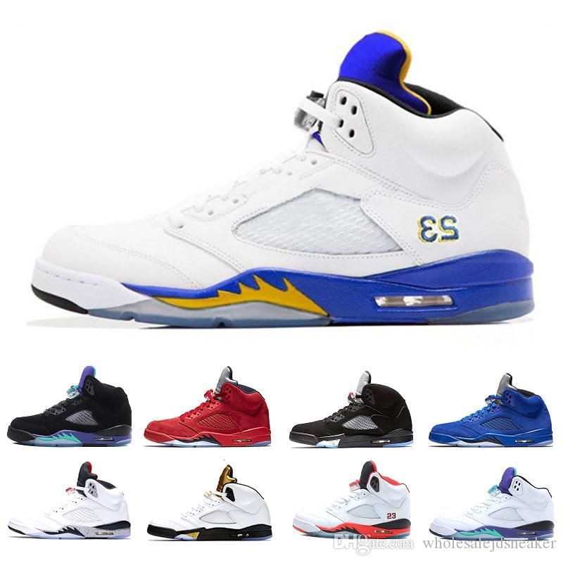 watch c8efd 751d0 Light Aqua Laney 5 Men Women Basketball Shoes 5s International Flight Blue  Red Suede White Cement OG Black Designer Sport Sneaker Size 5 13 Basketball  Shoes ...