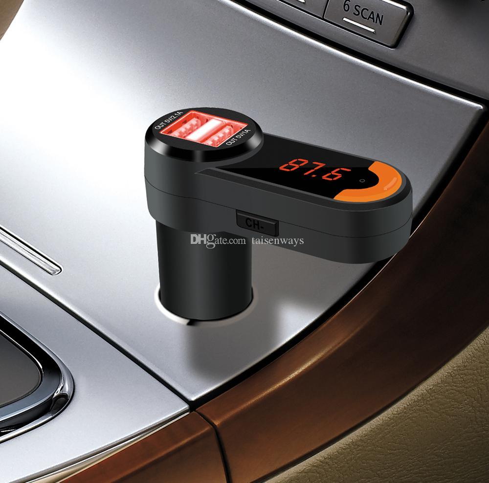 BC10 Car Bluetooth FM Transmitter Car Kit USB Charger Bluetooth Handsfree Car FM Modulator Dual USB Support TF Card
