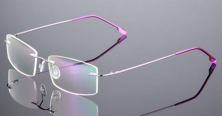 d1fde253ba363 Ultra-light FemaleTitanium Myopia Glasses Women Rimless Nearsighted Glasses  Finished Prescription -0.50 -1.0 to -6.00 Eyewear Frames Cheap Eyewear  Frames ...