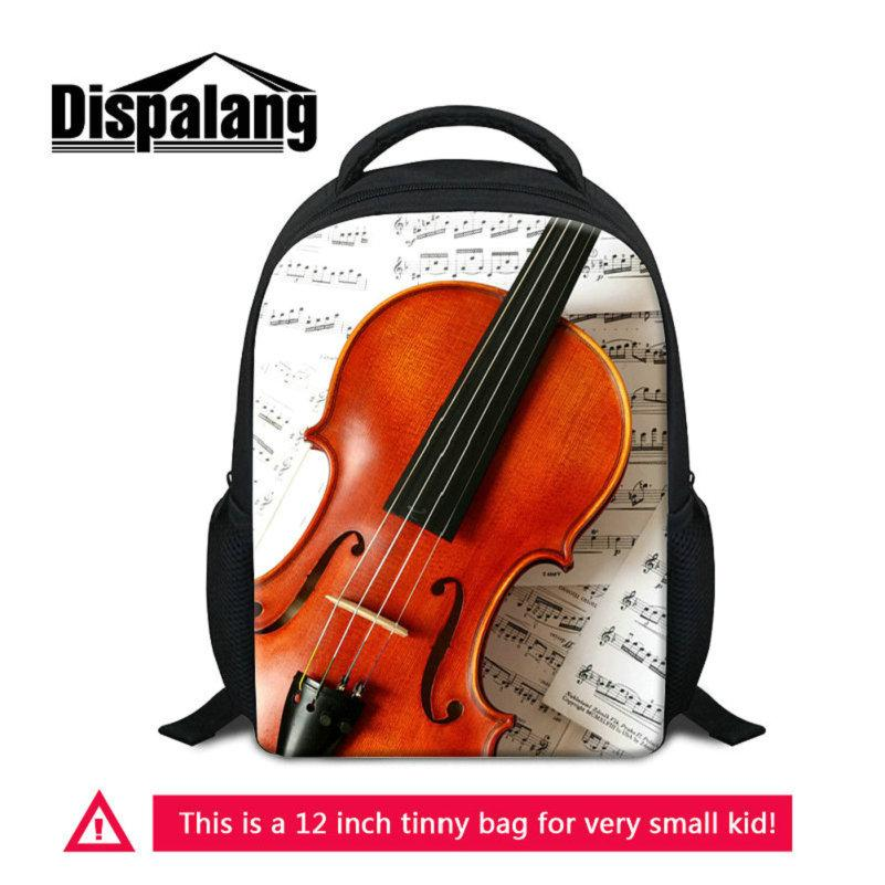 Kids Small School Bags For Kindergarten Mochilas Musical Note Printed  Backpack Violin Pattern Baby Rucksack Children S Bookbags Toddler Pack Hype  Bags Hobo ... bf5aa277d3f26