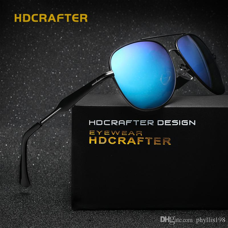 5dd8a77dbd8 2019 HDCRAFTER Designer Polarized Sunglasses Classic Outdoor Riding Men  Sunglasses Women Driving Glasses UV400 Metal Frame Polarized Lenses E019  From ...