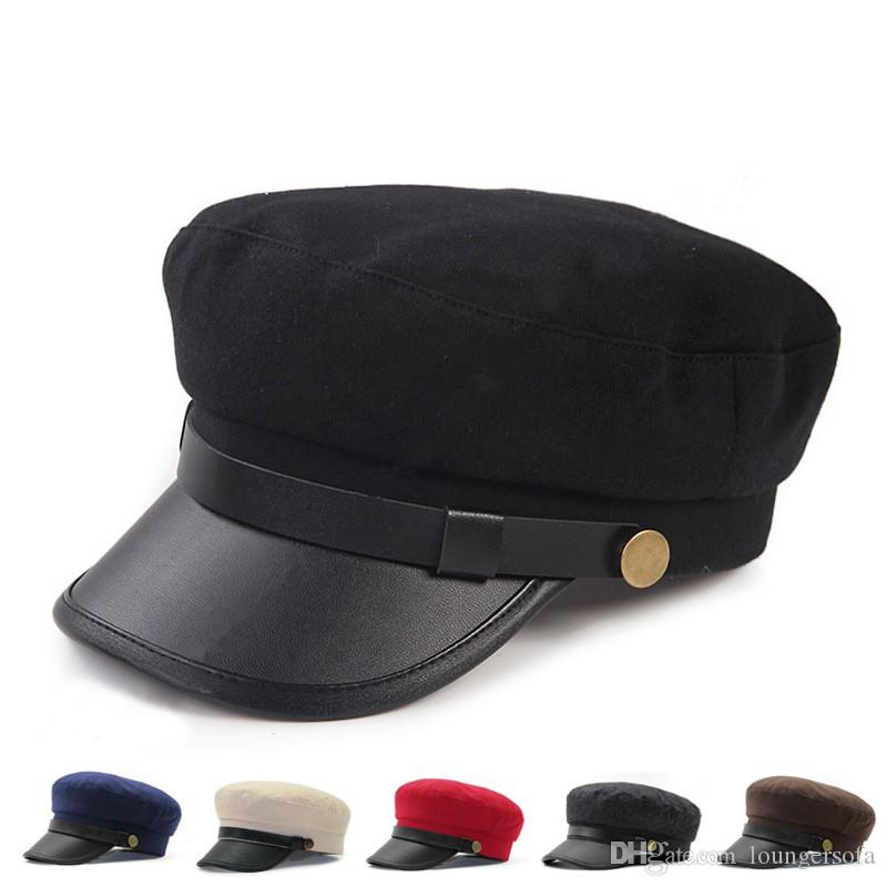 8019abddd7d 2019 Women Spring And Winter Caps Souvenirs British Style Navy Cap Brand  Designer Student Hat Hot Sale 16dt Ww From Loungersofa, $4.12 | DHgate.Com