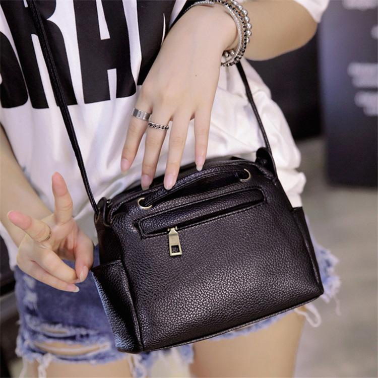 cb0d1e4cd3c Women Shoulder Bags Lovely Girl Mini Black Bag Women Bags Designer  Shoulderbag Purse and Handbags PU Leather New Casual Bag D233